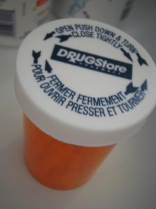 empty adderall pill bottle
