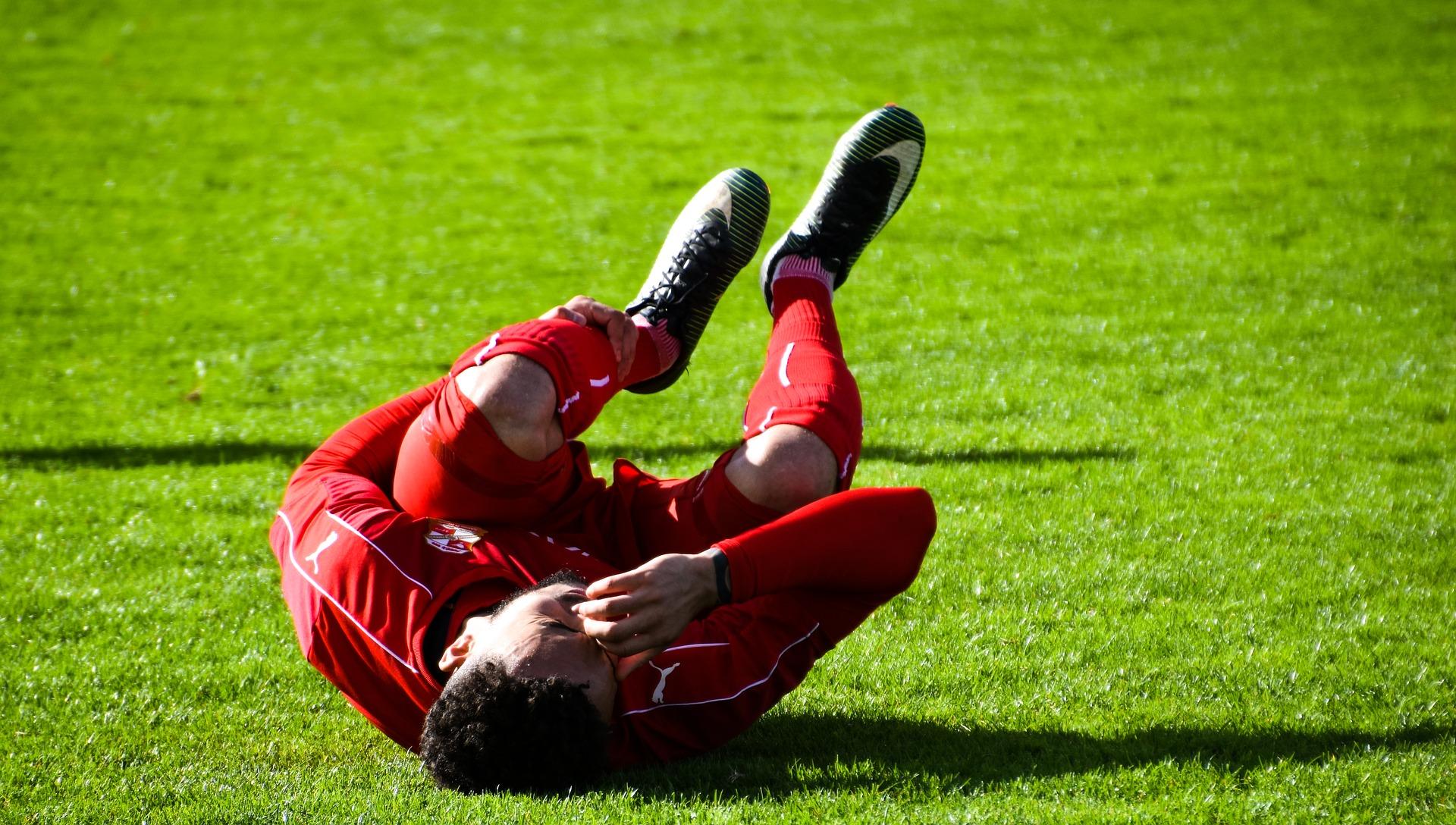 Footballer in pain